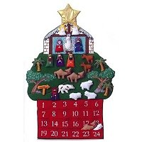 Shaped Nativity Advent Calendar